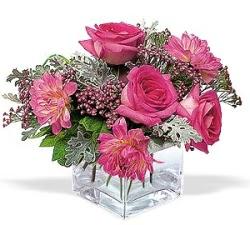 Bursa çiçek ucuz çiçek gönder  cam içerisinde 5 gül 7 gerbera çiçegi
