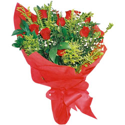 11 adet gül buketi sade ve görsel  Bursa çiçek ucuz çiçek gönder