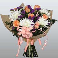 güller ve kir çiçekleri demeti   Çiçekçi bursa çiçek firması