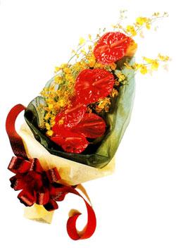 özel 5 adet antorium buketi   Çiçekçi Bursa sitesi nilüfer anneler günü çiçek yolla