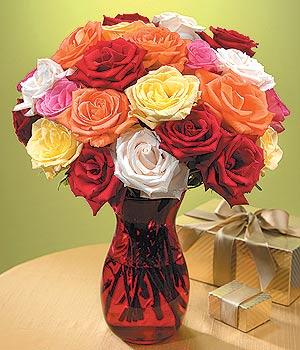 Çiçekçi Bursa sitesi nilüfer çiçek siparişi vermek  13 adet renkli gül