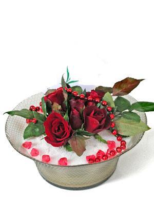 Bursa çiçek karacabey çiçekçi telefonları  EN ÇOK Sevenlere 7 adet kirmizi gül mika yada cam tanzim