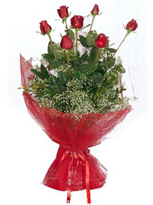 Çiçekçi Bursa sitesi osmangazi internetten çiçek satışı  7 adet gülden buket görsel sik sadelik