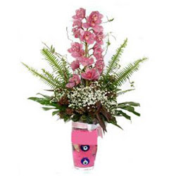 Bursa çiçek satışı Bursa çiçek yolla   cam yada mika vazo içerisinde tek dal orkide çiçegi