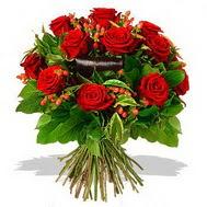 9 adet kirmizi gül ve kir çiçekleri  Bursa çiçek siparişi