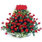 Bursa çiçek yenişehir çiçekçi mağazası  41 adet kirmizi gülden sepet tanzimi
