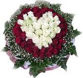 Bursa çiçek mustafa kemal paşa çiçek siparişi sitesi  27 adet kirmizi ve beyaz gül sepet içinde