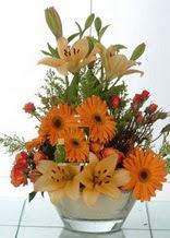 Çiçekçi Bursa sitesi osmangazi internetten çiçek satışı  cam yada mika vazo içinde karisik mevsim çiçekleri