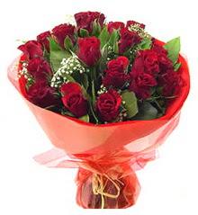 Çiçekçi Bursa sitesi nilüfer çiçek siparişi vermek  11 adet kimizi gülün ihtisami buket modeli