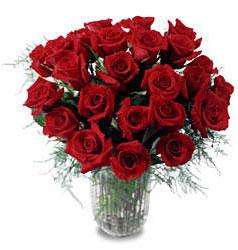 Çiçekçi Bursa sitesi nilüfer anneler günü çiçek yolla  11 adet kirmizi gül cam yada mika vazo içerisinde
