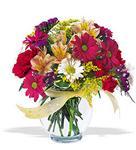 Bursa çiçek büyük orhan yurtiçi ve yurtdışı çiçek siparişi  cam yada mika vazo içerisinde karisik kir çiçekleri