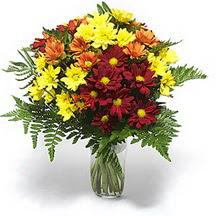 Online Bursa çiçekçi  Karisik çiçeklerden mevsim vazosu
