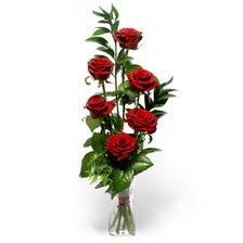 Bursadaki çiçekçi nilüfer hediye çiçek yolla  mika yada cam vazoda 6 adet essiz gül