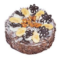 Muzlu çikolatali yas pasta 4 ile 6 kisilik   Bursadaki çiçekçi nilüfer hediye çiçek yolla