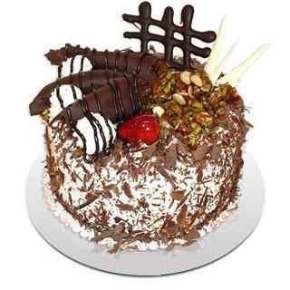 4 ile 6 kisilik çikolatali yas pasta  Bursa çiçek yenişehir çiçekçi mağazası