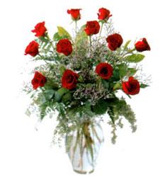 Vazo içerisinde 11 kirmizi gül  Bursa çiçek karacabey çiçekçi telefonları
