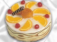 lezzetli pasta satisi 4 ile 6 kisilik yas pasta portakalli pasta  Bursa çiçek siparişi