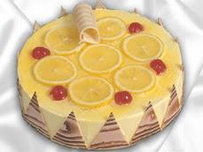 taze pastaci 4 ile 6 kisilik yas pasta limonlu yaspasta  Çiçekçi Bursa sitesi orhangazi çiçek satışı