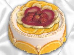 leziz pastane 4 ile 6 kisilik yas pasta meyvali yaspasta  Bursa çiçek yenişehir çiçekçi mağazası