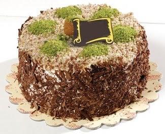 pasta gönderme 4 ile 6 kisilik çikolatali yas pasta  Bursa çiçekçi inegöl kaliteli taze ve ucuz çiçekler