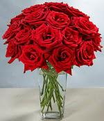 Online Bursa çiçekçi  Sevdiklerinize özel ürün 12 adet cam içerisinde kirmizi gül  Bursa çiçek satışı Bursa çiçek yolla