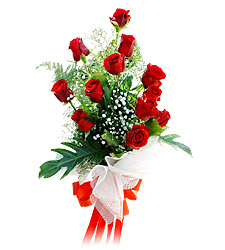 11 adet kirmizi güllerden görsel sölen buket  Bursa çiçek karacabey çiçekçi telefonları