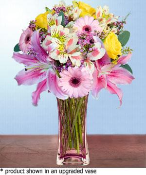 Anneme hediye karisik cam mevsim demeti  Bursadaki çiçekçi bursaya çiçek
