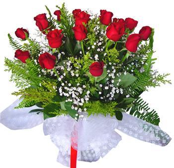 11 adet gösterisli kirmizi gül buketi  Bursa çiçek siparişi