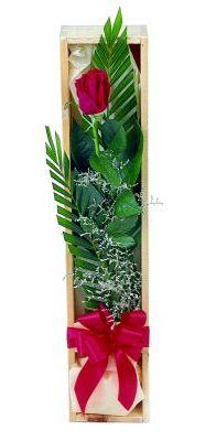 1 adet kutuda kirmizi gül  Çiçekçi Bursa sitesi nilüfer anneler günü çiçek yolla