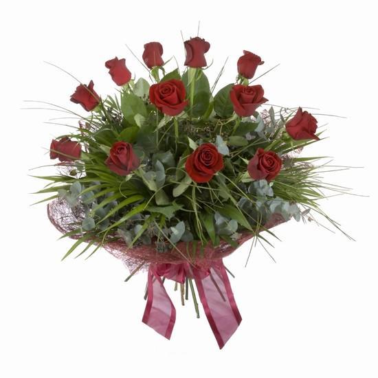 Etkileyici buket 11 adet kirmizi gül buketi  Bursa çiçek siparişi