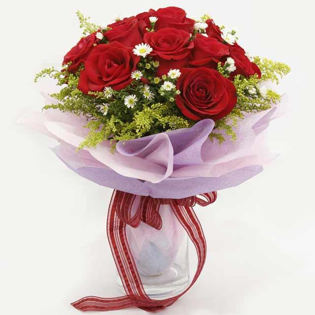 Çiçek gönderme estetikliginiz 11 gül buket  Bursa çiçek siparişi
