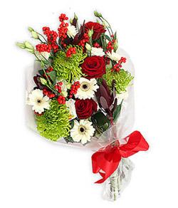 Karisik mevsim buketi çiçek tanzimi  Bursadaki çiçekçi bursaya çiçek