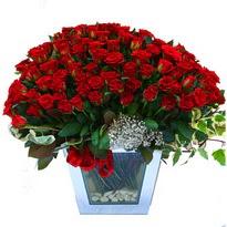 Çiçekçi bursa çiçek firması   101 adet kirmizi gül aranjmani