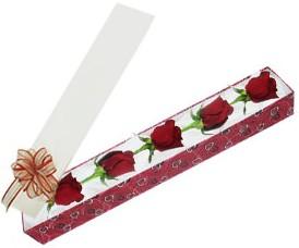 Bursa çiçek siparişi  kutu içerisinde 5 adet kirmizi gül