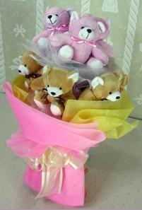 8 adet ayiciktan buket  Bursadaki çiçekçiler bursaya çiçek yolla