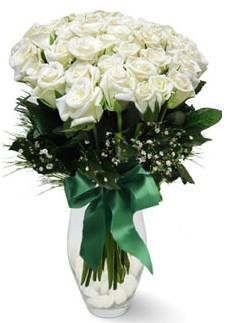 19 adet essiz kalitede beyaz gül  Çiçekçi bursa çiçek firması