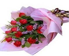 11 adet kirmizi güllerden görsel buket  Çiçekçi Bursa sitesi nilüfer anneler günü çiçek yolla