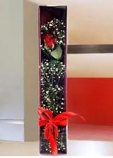 kutu içinde tek kirmizi gül  Bursa çiçekçiler orhaneli çiçekçiler