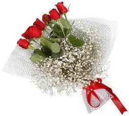 7 adet kirmizimi kirmizi gül buketi  Bursadaki çiçek cicek , cicekci
