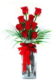 Çiçekçi Bursa sitesi inegöl çiçek mağazası , çiçekçi adresleri  9 adet mika yada cam vazoda gül tanzimi