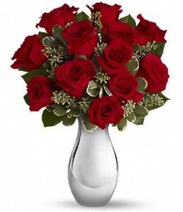 Bursa çiçek karacabey çiçekçi telefonları   vazo içerisinde 11 adet kırmızı gül tanzimi