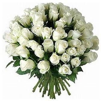 Çiçekçi Bursa sitesi osmangazi internetten çiçek satışı  33 adet beyaz gül buketi
