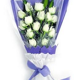 Bursa çiçek siparişi  11 adet beyaz gül buket modeli