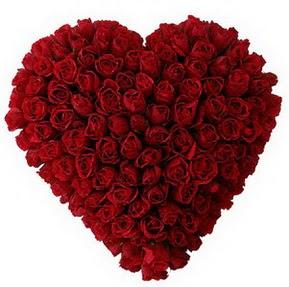 Bursa çiçek siparişi  muhteşem kırmızı güllerden kalp çiçeği