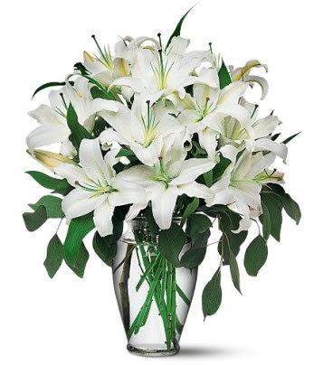 Bursa çiçek siparişi  4 dal kazablanka ile görsel vazo tanzimi