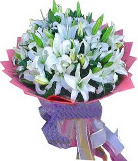 7 dal cazablanca görsel buketi  Bursa çiçek siparişi
