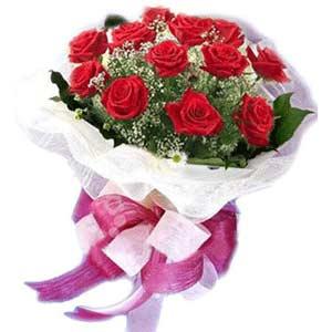 Bursa çiçekçi inegöl kaliteli taze ve ucuz çiçekler  11 adet kırmızı güllerden buket modeli