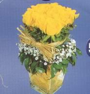 Çiçekçi Bursa sitesi nilüfer çiçek siparişi vermek  Cam vazoda 9 Sari gül