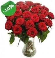 Vazo içerisinde 25 adet kırmızı gül  Bursadaki çiçekçiler bursaya çiçek yolla