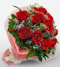 12 adet kırmızı güllerden kaliteli gül  Bursa çiçek karacabey çiçekçi telefonları